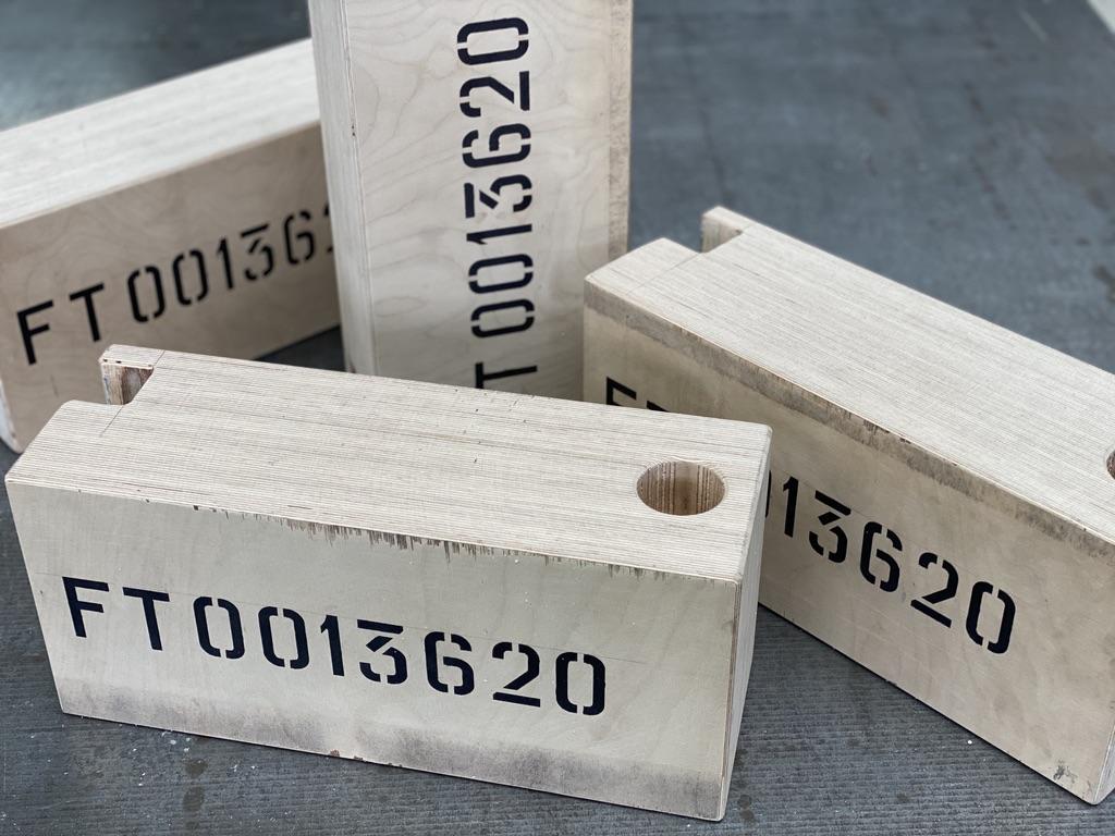 Cales de positionnement en bois