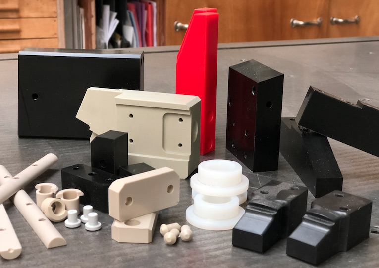 Différents types de pièces usinées en Plastique