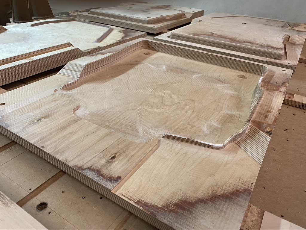 Fabrication de moule de thermocompression prototype en bois