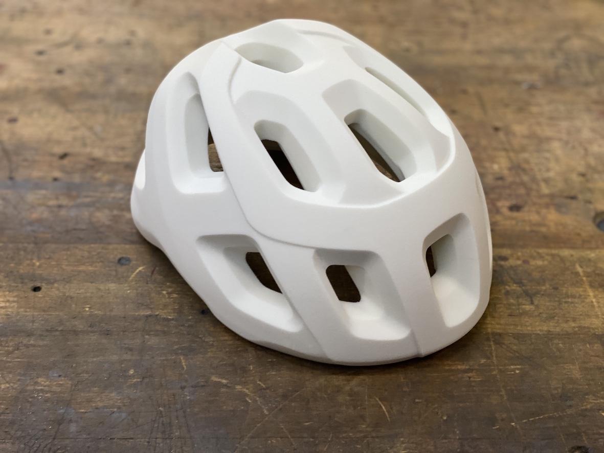 Usinage d'un modèle de casque prototype