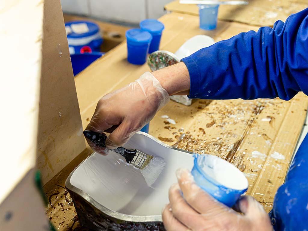 Mise en peinture (gelcoat) d'un moule de drapage pour réalisation d'une pièce composite à destination de la défense aéronautique_huyghe
