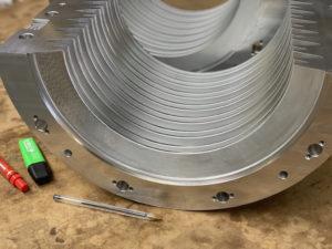 Usinage en 5 axes de deux demi-coquilles aluminium