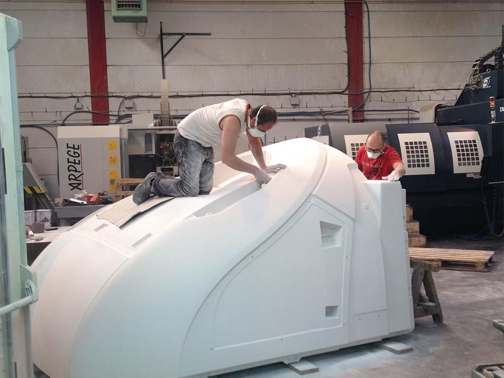 Réalisation d'un modèle pour drapage composites dans le domaine ferroviaire