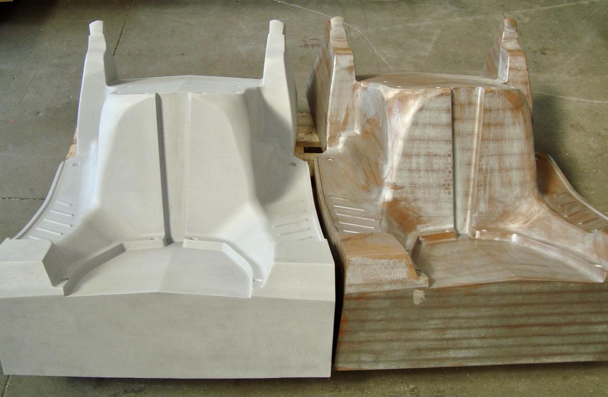 Moule de thermoformage sur base d'une fonderie aluminium et modèle maître